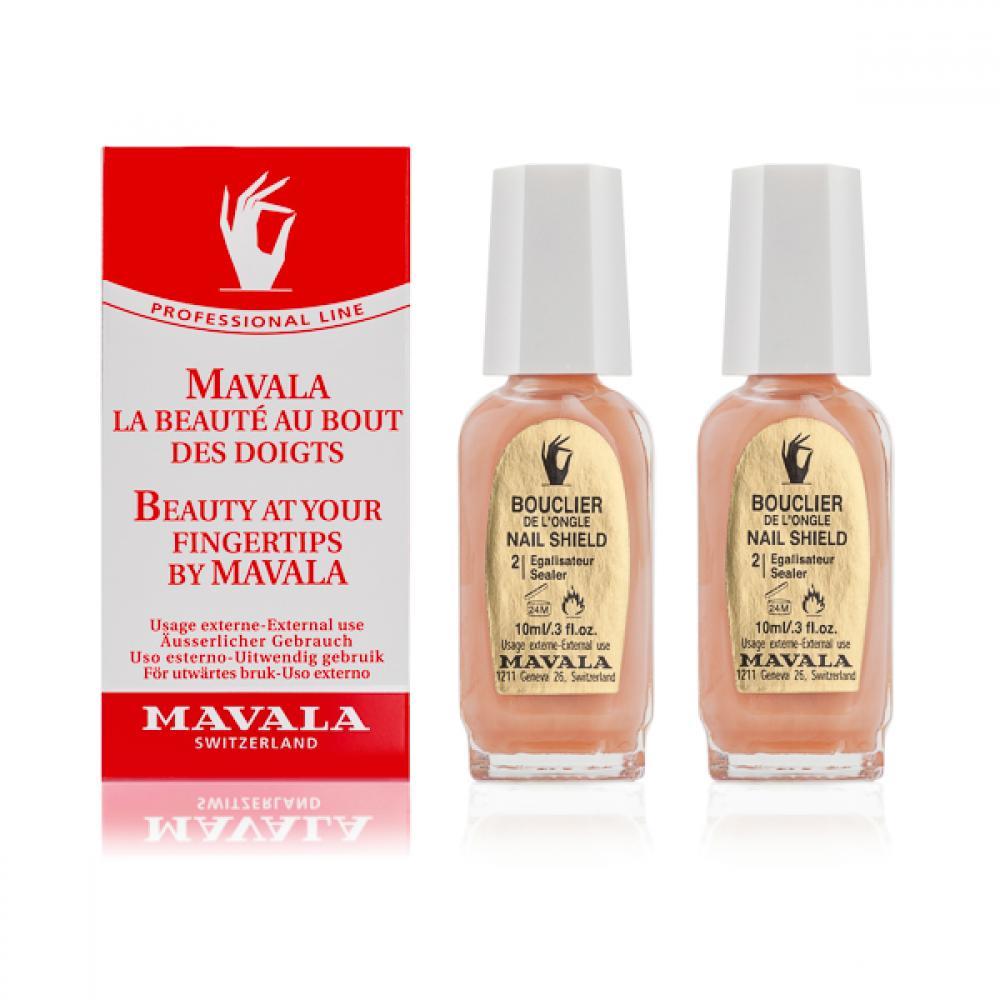 Купить MAVALA Основа укрепляющая для слабых и тонких ногтей фаза 2 / Завершающее матовое покрытие / Nail Shield 2 x 10 мл