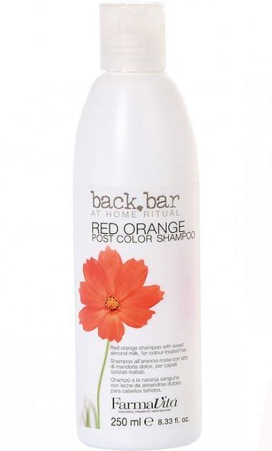 FARMAVITA Шампунь красный апельсин Red Orange Shampoo / BACK BAR 250 млШампуни<br>Шампунь красный апельсин из линии Back Bar (Бэк бар рэд орандж) - специальный шампунь для окрашенных волос. Содержит молочко сладкого миндаля. Мягко очищает окрашенные волосы и оказывает интенсивное ухаживающее воздействие. УФ-фильтр защищает волосы от выгорания на солнце. Активные ингредиенты: молочко сладкого миндаля. УФ-фильтры. Способ применения: нанесите шампунь Back Bar Red Orange на увлажненную кожу головы. Массирующими движениями распределите шампунь по волосам. Для повышения стойкости окислительных красящих пигментов рекомендуется выдержать на волосах 1-2 минуты. Затем бережно смойте. При необходимости повторите процедуру. Нанесите подходящее для Ваших волос средство для ухода. Рекомендуем применять с легкой защитной маской Back Bar Cream Plus.<br><br>Цвет: Красный<br>Объем: 250 мл<br>Типы волос: Окрашенные