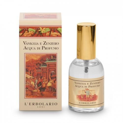 LERBOLARIO Вода парфюмированная Ваниль и имбирь 50мл