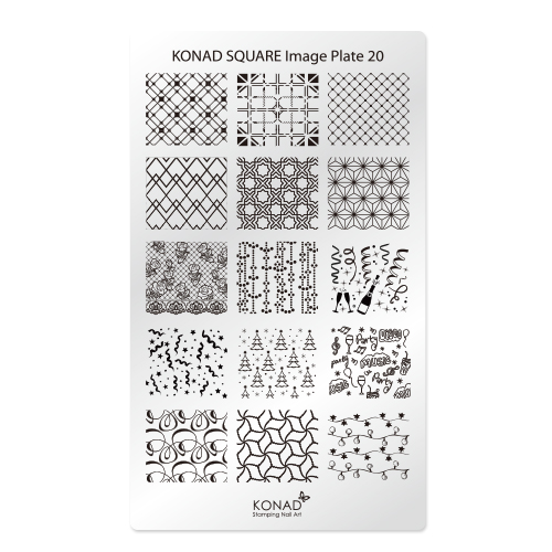 KONAD Пластина прямоугольная / Square Image Plate20 30гр
