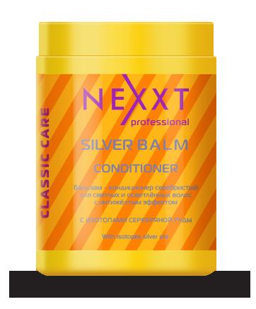 NEXXT professional Бальзам-кондиционер серебристый для светлых и осветленных волос, с антижелтым эффектом 1000 мл