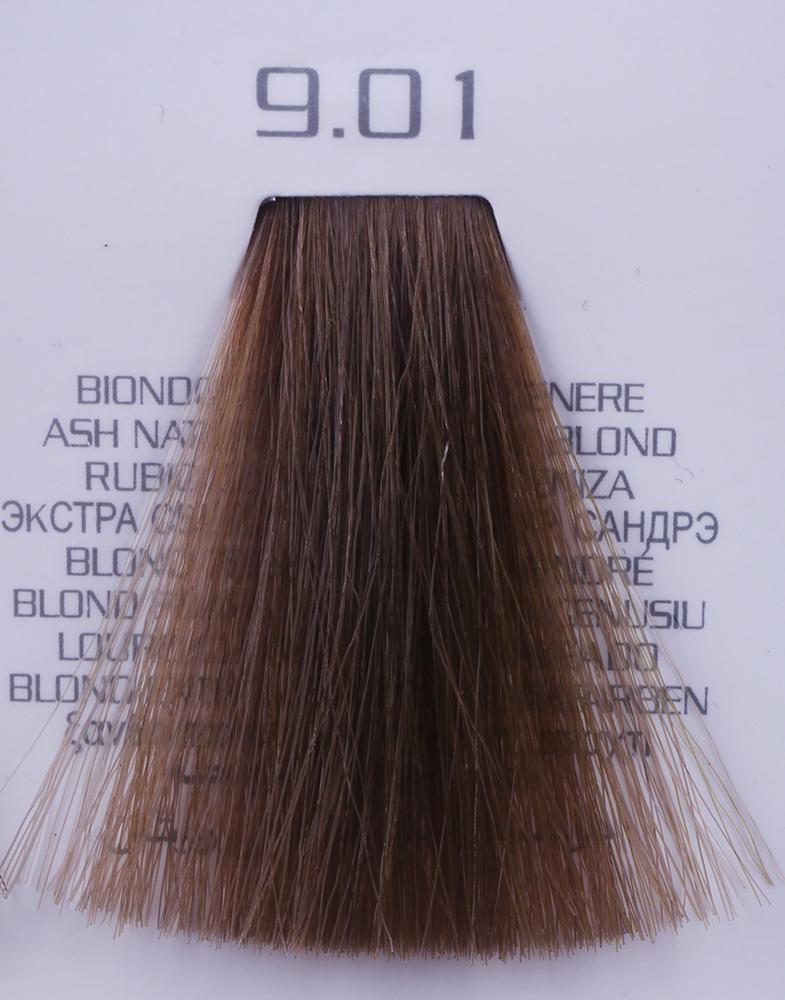 HAIR COMPANY 9.01 краска для волос / HAIR LIGHT CREMA COLORANTE 100млКраски<br>9.01 экстра светло-русый натуральный сандрэHair Light Crema Colorante   профессиональный перманентный краситель для волос, содержащий в своем составе натуральные ингредиенты и в особенности эксклюзивный мультивитаминный восстанавливающий комплекс. Минимальное количество аммиака позволяет максимально бережно относится к структуре волоса во время окрашивания. Содержит в себе растительные экстракты вытяжку из арахиса, лецитин, витамин А и Е, а так же витамин С который является природным консервантом цвета. Применение исключительно активных ингредиентов и пигментов высокого качества гарантируют получение однородного, насыщенного, интенсивного и искрящегося оттенка. Великолепно дает возможность на 100% закрасить даже стекловидную седину. Наличие 6-ти микстонов, а так же нейтрального бесцветного микстона, позволяет достигать получения цветов и оттенков. Способ применения: смешать Hair Light Crema Colorante с Hair Light Emulsione Ossidante в пропорции 1:1,5. Время воздействия 30-45 мин.<br><br>Цвет: Бежевый и коричневый<br>Вид средства для волос: Восстанавливающий<br>Класс косметики: Профессиональная