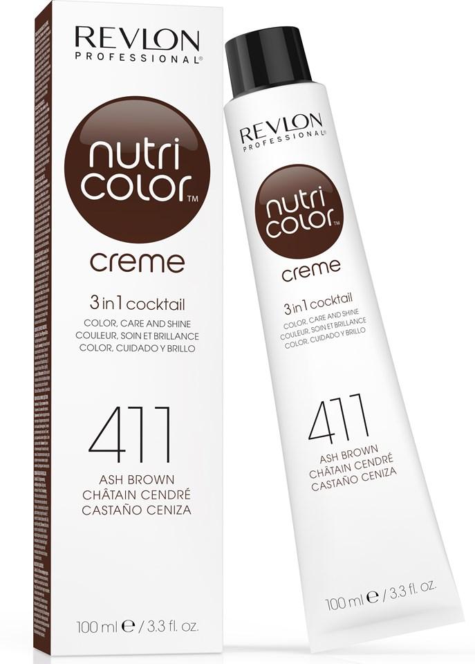 Купить REVLON Professional 411 краска 3 в 1 для волос, коричневый / NUTRI COLOR CREME 100 мл, Бежевый и коричневый