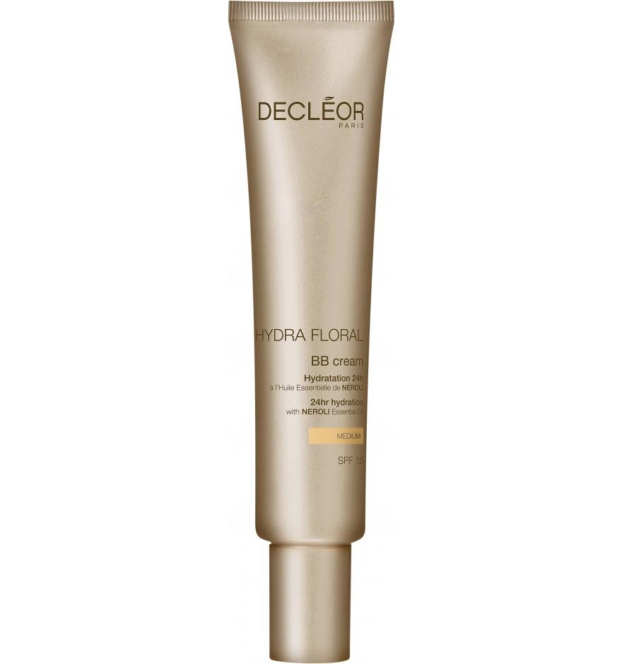 DECLEOR ВВ-крем 24 светлый тон SPF 16 / HYDRA FLORAL NEROLI 40млТональные основы<br>BB-крем сочетает в себе свойства 24-х часового увлажнения и тональной основы. Средство 5 в 1: обеспечивает увлажнение и защищает от загрязнений в течение 24 часов, придает коже яркость и выравнивает цвет лица, улучшает текстуру кожи и корректирует недостатки, защищает от UVA/UVB лучей (SPF 15). Без парабенов, без минеральных масел. Крем увлажняет кожу на 24 часа. Крем выравнивает тон кожи, придавая ей свежесть и сияние. Способ применения: нанесите утром на предварительно очищенную кожу лица и шеи после Ароматической эссенции, используя специальные техники DECL OR.<br><br>Назначение: Сухость<br>Время применения: 24 часа