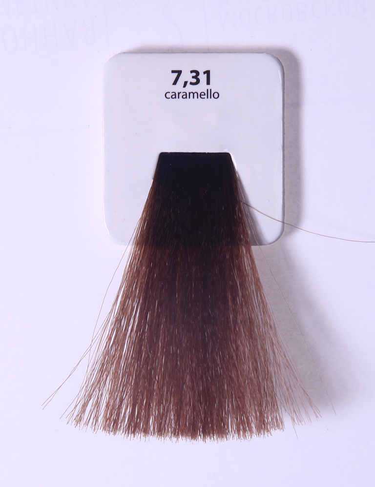 KAARAL 7.31 краска для волос / Sense COLOURS 100млКраски<br>7.31 золотисто-пепельный блондин (карамель) Перманентные красители. Классический перманентный краситель бизнес класса. Обладает высокой покрывающей способностью. Содержит алоэ вера, оказывающее мощное увлажняющее действие, кокосовое масло для дополнительной защиты волос и кожи головы от агрессивного воздействия химических агентов красителя и провитамин В5 для поддержания внутренней структуры волоса. При соблюдении правильной технологии окрашивания гарантировано 100% окрашивание седых волос. Палитра включает 93 классических оттенка. Способ применения: Приготовление: смешивается с окислителем OXI Plus 6, 10, 20, 30 или 40 Vol в пропорции 1:1 (60 г красителя + 60 г окислителя). Суперосветляющие оттенки смешиваются с окислителями OXI Plus 40 Vol в пропорции 1:2. Для тонирования волос краситель используется с окислителем OXI Plus 6Vol в различных пропорциях в зависимости от желаемого результата. Нанесение: провести тест на чувствительность. Для предотвращения окрашивания кожи при работе с темными оттенками перед нанесением красителя обработать краевую линию роста волос защитным кремом Вaco. ПЕРВИЧНОЕ ОКРАШИВАНИЕ Нанести краситель сначала по длине волос и на кончики, отступив 1-2 см от прикорневой части волос, затем нанести состав на прикорневую часть. ВТОРИЧНОЕ ОКРАШИВАНИЕ Нанести состав сначала на прикорневую часть волос. Затем для обновления цвета ранее окрашенных волос нанести безаммиачный краситель Easy Soft. Время выдержки: 35 минут. Корректоры Sense. Используются для коррекции цвета, усиления яркости оттенков, создания новых цветовых нюансов, а также для нейтрализации нежелательных оттенков по законам хроматического круга. Содержат аммиак и могут использоваться самостоятельно. Оттенки: T-AG - серебристо-серый, T-M - фиолетовый, T-B - синий, T-RO - красный, T-D - золотистый, 0.00 - нейтральный. Способ применения: для усиления или коррекции цвета волос от 2 до 6 уровней цвета корректоры добавляются в красите