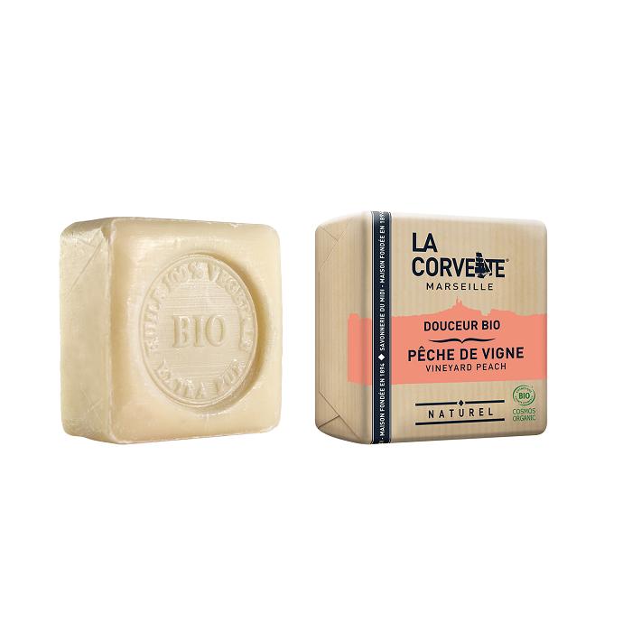 LA CORVETTE Мыло био-крем Виноградный персик 100 г - Мыла