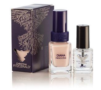 CHRISTINA FITZGERALD Лак для ногтей Розовый френч + BOND / Diana 12 9 мл