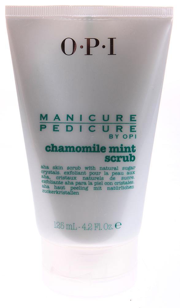 OPI Скраб для рук и ног Ромашка-мята / Manicure-Pedicure Chamomile Mint Scrub 125мл opi лосьон для рук и тела opi avoplex moisture replenishing lotion av711 30 мл