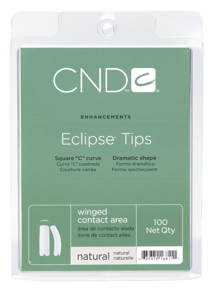 CND Типсы / Natural Eclipse 100шт cnd типсы cnd clear eclipse 16818 100 шт