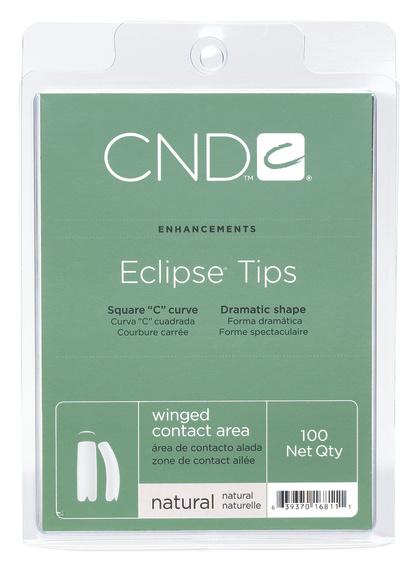 CND Типсы / Natural Eclipse 100штНаращивание<br>Типсы профессионального качества выполнены из первородного ABS пластика. Обладают различными структурными зонами для всех типов ногтей. Eclipse&amp;reg; - непревзойденные типсы для ногтей с глубокими боковыми стенками. Позволяют придать натуральному ногтю желаемую длину. Восстанавливают форму ногтей с нарушенной структурой. Обладают повышенной прочностью и пластичностью Квадратный С-изгиб Имеют расширенный диапазон размеров (1 - максимально большой, 10 - наиболее маленький) Контактная зона со специальным вырезом Рекомендации: Подбирайте типсы точно по размеру натурального ногтя. Всегда используйте острое лезвие при срезе. Никогда не наносите растворители и кислотные праймеры на поверхность типса. Способ применения: Нанесите выбранный адгезив от Creative Nail Design на контактную зону типса и на свободный край натурального ногтя. Приклейте типс. Срежьте лишнюю длину, обработайте контактную зону и нанесите выбранный материал.<br>
