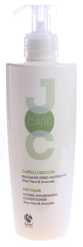 BAREX Бальзам для секущихся и ослабленных волос с Алоэ Вера и Авокадо / JOC CARE 250млБальзамы<br>Идеально подходит для питания и укрепления сухих и обезвоженных волос, не утяжеляя их. Волосы становятся объёмными, сияющими, легко поддаются укладке. Алоэ вера: растение, богатое минералами, витаминами и аминокислотами, увлажняет волосы. Масло авокадо: ухаживает за сухими и хрупкими волосами, делая их мягкими и шелковистыми. Мгновенно улучшает структуру волос, облегчая их расчёсывание. Активные ингредиенты: алоэ вера, масло авокадо. Способ применения: нанести на чистые влажные волосы, массирующими движениями распределить равномерно по всей длине волос и оставить на несколько минут.<br><br>Назначение: Секущиеся кончики