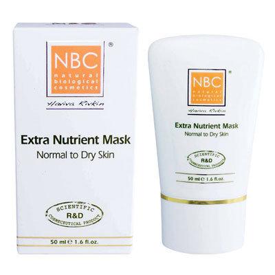 NBC Haviva Rivkin Маска питательная / Extra Nutrient Mask 50млМаски<br>Обогащенная питательная маска для супер сухой, сухой, нормальной кожи. Глубоко питает кожу, обогащает ее питательными веществами, снимает шелушение, разглаживает сеточку мелких морщин, оставляет кожу эластичной, свежей, сияющей и бархатной. Содержит полный противовозрастной комплекс.Активные ингредиенты: масло сладкого миндаля, стеариновая кислота, масло какао, пчелиный воск, ланолин, триэтаноламин, аллантоин, крахмал.Способ применения: на чистую кожу нанести маску на 15-20 минут. Затем снять теплым компрессом. Протереть кожу тоником или оставить тонкий слой в виде крема до полного впитывания.<br><br>Вид средства для лица: Пчелиный<br>Назначение: Морщины