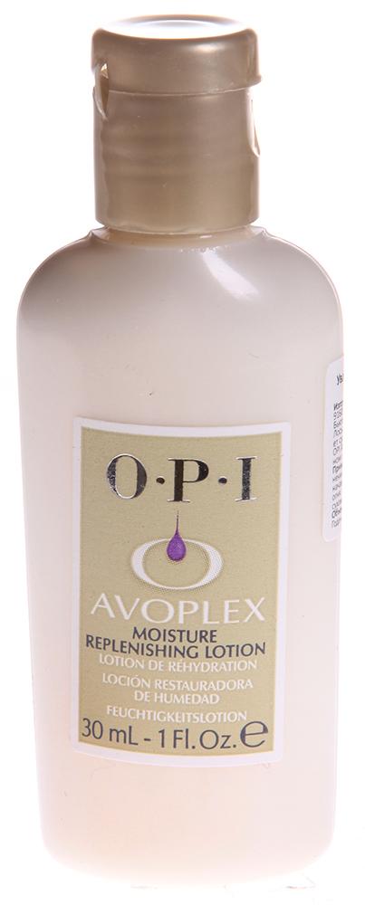 OPI Лосьон для рук и тела / Moisture Replenishing Lotion AVOPLEX 30млЛосьоны<br>Лосьон не оставляет после себя жирной пленки, быстро и эффективно впитываясь в кожу. Совместное применение с маслом &amp;laquo;Авоплекс&amp;raquo; - идеальное сочетание для массажа в стиле СПА.   Активные ингредиенты: Содержит аллантоин, масло авокадо, фосфолипиды, пантенол, антиоксиданты, витамины A, B1, B2, D и E.   Способ применения: Используется после процедуры маникюра. Применение показано для смягчения кожи рук, а также для защиты и дополнительного увлажнения. Желательно использовать для мужского маникюра.<br><br>Объем: 30 ml