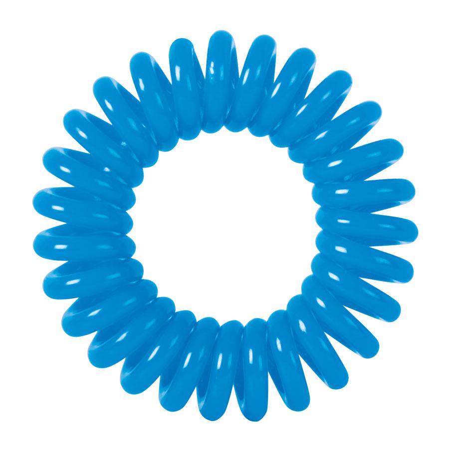 Купить DEWAL BEAUTY Резинки для волос Пружинка, цвет синий 3 шт