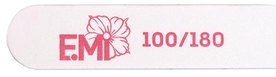 Купить E.MI Пилка для ногтей 100/180, белая