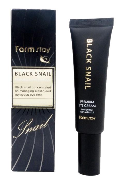 Купить FARMSTAY Крем премиальный с муцином черной улитки для глаз / Black Snail 50 мл