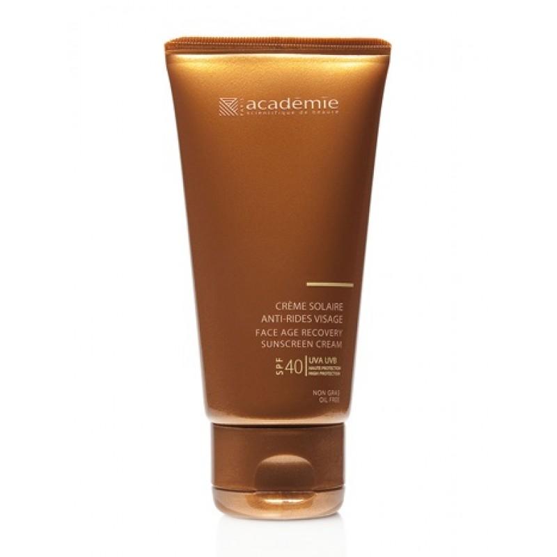 ACADEMIE Крем солнцезащитный регенерирующий для лица SPF40 / BRONZECRAN 50мл academie крем лифтинг для лица и шеи