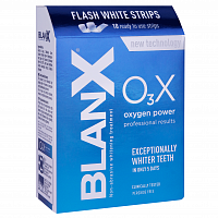 Полоски O3X Сила кислорода / BlanX O3X Flash White Strips 10 шт, BLANX