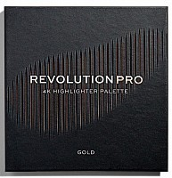 REVOLUTION PRO Хайлайтер для лица, тон Gold / 4k Highlighter Palette, фото 1