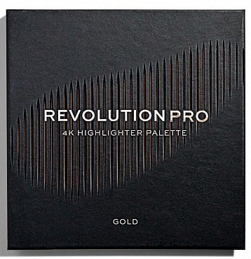 REVOLUTION PRO Хайлайтер для лица, тон Gold / 4k Highlighter Palette