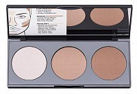 Палетка пудровая для контурирования лица 01 / PERFECTING CONTOURING POWDER PALETTE 3*5 г, NOTE COSMETICS