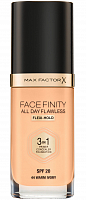 Основа тональная 44 / Facefinity All Day Flawless 3-in-1 warm ivory 30 мл, MAX FACTOR