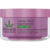 Скраб для тела, ваниль и слива / Vanilla Plum Herbal Sugar Body Scrub 176 г, HEMPZ