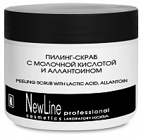 Пилинг-скраб с молочной кислотой и алантаином 300 мл, NEW LINE PROFESSIONAL