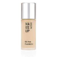 Крем тональный матовый для нормальной и жирной кожи, 02 атласная кожа / Oil-free Foundation, MAKE UP FACTORY