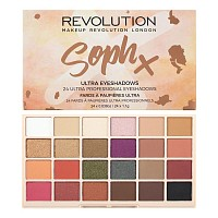 Палетка теней для век / SophX Ultra Eyeshadows, MAKEUP REVOLUTION