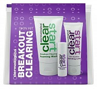 Набор очищающий (Foaming Wash 75 мл, Breakout Clearing Booster 10 мл, Soothing Hydrating Lotion 30 мл) / Breakout Clearing Kit CLEAR START, DERMALOGICA
