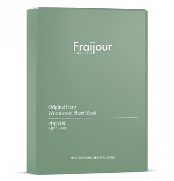EVAS Маска тканевая для лица / Fraijour Original Herb Wormwood Sheet Mask 5*23 мл