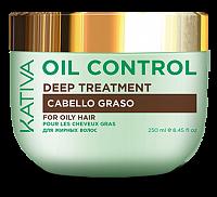 Маска интенсивный уход для жирных волос Контроль / OIL CONTROL 250 мл, KATIVA