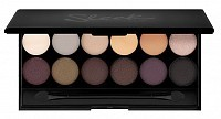 Палетка теней для век, 12 тонов / AU Natural Eyeshadow Palette I-Divine 119 г, SLEEK MakeUP