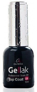 Покрытие верхнее / Soak-off Top Coat GELLAK 10 мл, AURELIA