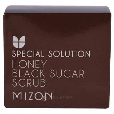 Скраб для лица / HONEY BLACK SUGAR SCRUB 80 г, MIZON