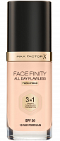 Основа тональная 10 / Facefinity All Day Flawless 3-in-1 fair porcelain 30 мл, MAX FACTOR