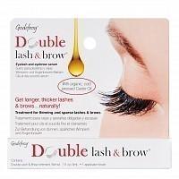 Масло-активатор роста бровей и ресниц, натуральная формула / Double Lash & Brow Organic Oil 3 мл, GODEFROY