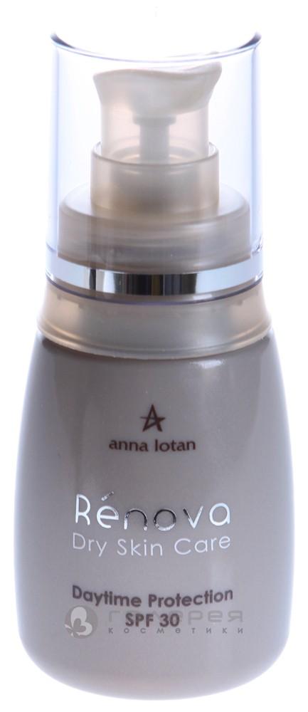 Anna lotan. крем дневной солнцезащитный для сухой кожи spf30 / daytime protection spf30 renova 50мл купить в интернет-магазине к.