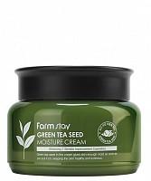 Крем увлажняющий с семенами зеленого чая 100 г, FARMSTAY