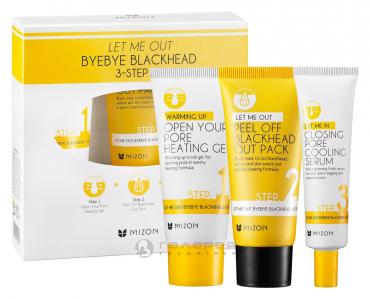 Набор от черных точек / LET ME OUT BYEBYE BLACK HEAD 3-SETP KIT, MIZON