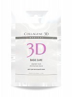 Маска альгинатная с розовой глиной для лица и тела / Basic Care 30 г, MEDICAL COLLAGENE 3D