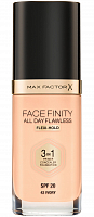Основа тональная 42 / Facefinity All Day Flawless 3-in-1 ivory 30 мл, MAX FACTOR
