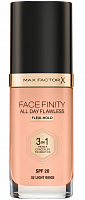 Основа тональная 32 / Facefinity All Day Flawless 3-in-1 light beige 30 мл, MAX FACTOR